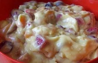 Fruit Salad with Vanilla Pudding