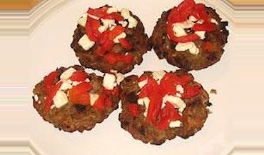 italian meatloaf patties in zesty tomato gr…