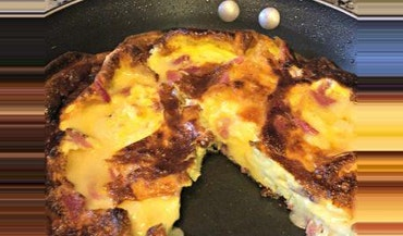 Low Carb Ham and Brie Frittata