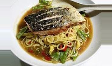 Salmon & Noodles