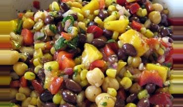 Corn and Black Bean Salad with Basil-Lime V…