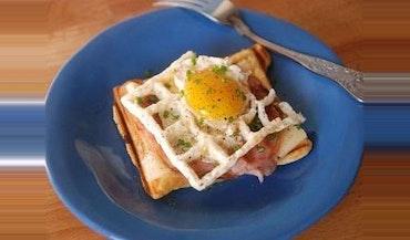 Waffle Iron Croque Madame
