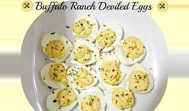 Buffalo Ranch Deviled Eggs
