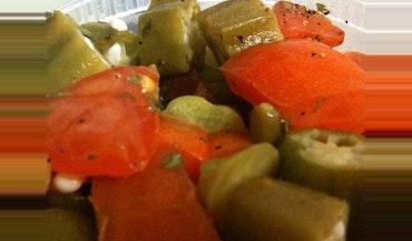 Fresh Tomato & Okra Salad