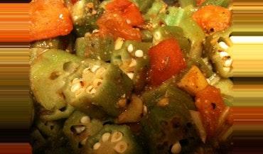 Steaming Lemon Pepper Okra
