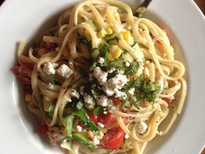 Pasta With Vegetables & Goat Cheese
