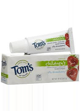 Tom's of Maine Children's Natural Toothpaste Fluoride Silly Strawberry
